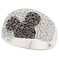 mickey mouse engagement ring disney sterling diamonique black white mickeymouse ring polyvore