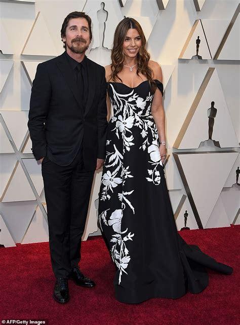 Oscars Christian Bale Wife Sibi Blazic Pose