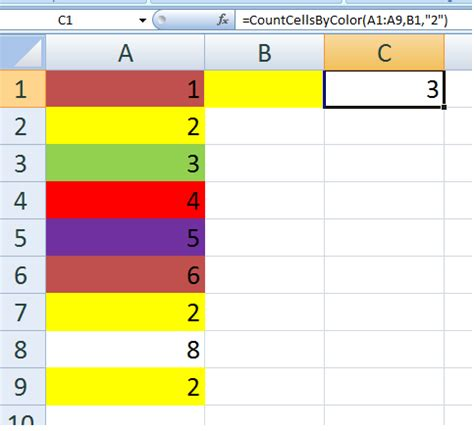 excel count cells by colour with countif stack overflow