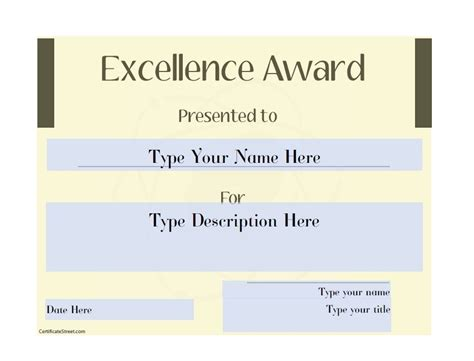 Tke Award Certifricate Template by 50 Amazing Award Certificate Templates Template Lab