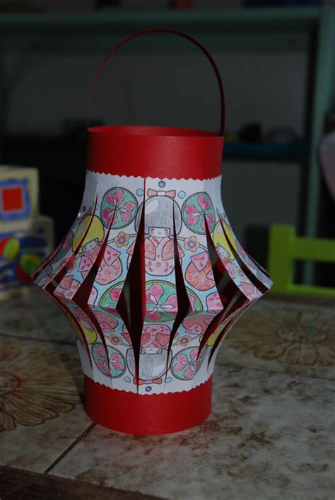 fabriquer une lanterne chinoise lanterne chinoise maternelle