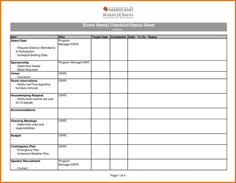 Checklist Template Check List Template Excel 28 Images 5 Checklist