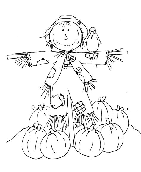 Best Scarecrow Coloring Pages Ideas And Images On Bing Find What