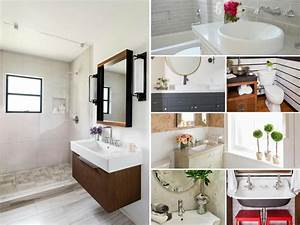 Before and after bathroom remodels on a budget hgtv for How to remodel bathroom cheap