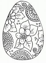 Coloring Easter Egg Plain Pages Fk Pdf Print sketch template