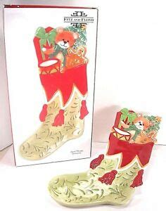 foto de Fitz and Floyd Snack Therapy Christmas Stocking Tray