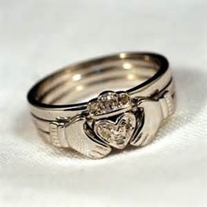 Stackable Claddagh Ring Celtic Stacking Rings Claddagh