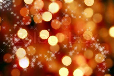 abstract background  christmas orange lights stock