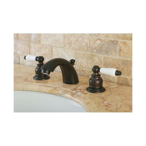 mini widespread faucet rubbed bronze faucet kb945b in rubbed bronze by kingston brass