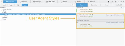 user agent styles inspector firefox developer improvements toolbox scratchpad episode tools devtools inspect mozilla hacks usage