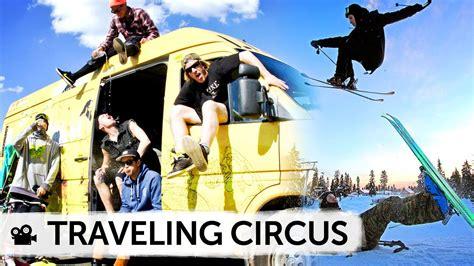 traveling circus skis  fun  ride