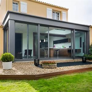 Véranda aluminium à toit plat