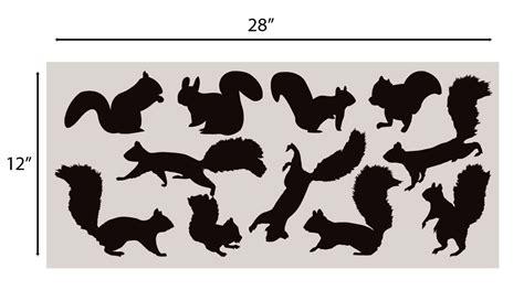 Matte Brown Squirrel Wall Decal Nursery Sticker Set Add To