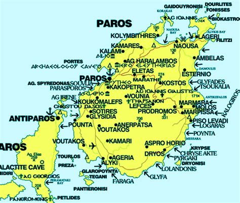 map  paros greece