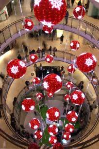 led red balls shopping mall christmas decorations yandecor