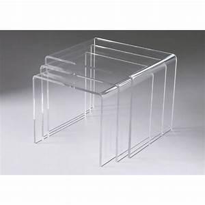 Table Basse En Plexiglas : table basse gigogne en plexiglass ~ Teatrodelosmanantiales.com Idées de Décoration