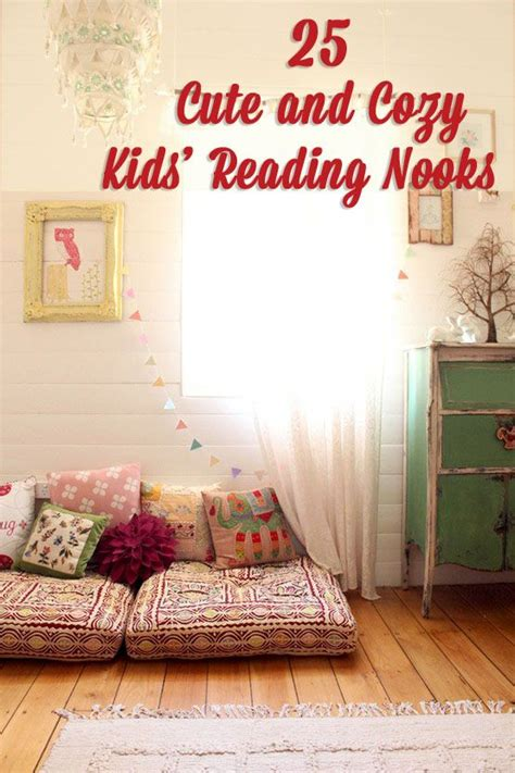 cute  cozy kids reading nooks baby rooms