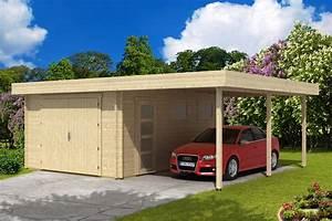 Garage Mit Carport : flachdach holzgarage mit carport 44 iso holzgarage mit carport 44 iso a z gartenhaus gmbh ~ Orissabook.com Haus und Dekorationen