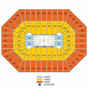 Bradley Center Seating Chart With Rows And Seat Numbers