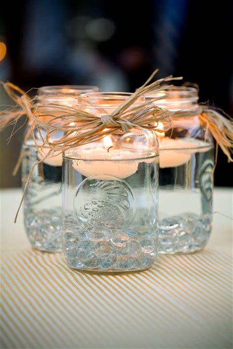 mason jar centerpieces floating candles emmaline bride