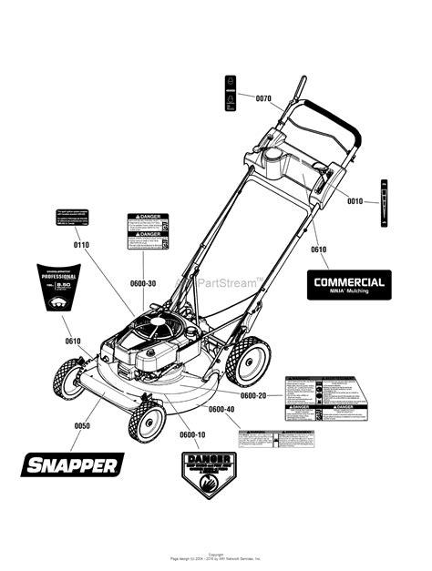 snapper crp     gtp steel deck commercial series  parts diagram