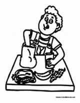 Lunch Coloring Pages Cafeteria Eating Boy Sheets Colormegood sketch template