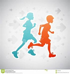 Running Kids Stock Vector - Image: 41886305