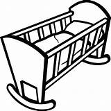 Crib Drawing Clip Clipart Clipartmag Crip Clipground sketch template