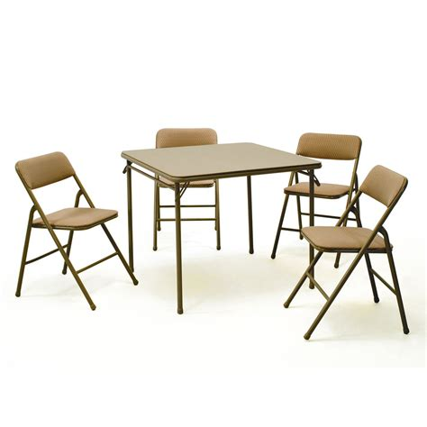 costco party tables and chairs cosco home and office products 14551whd five piece folding