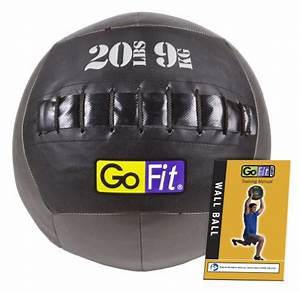 Gofit Wall Ball With Training Manual 20pound