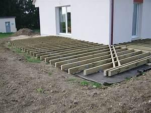 Terrasse Bois Sur Terre : terrasse bois composite sur terre diverses ~ Dailycaller-alerts.com Idées de Décoration