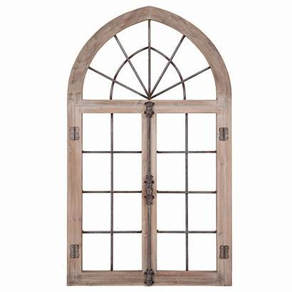 Window Wall Frame Decor Cathedral Arched Distressed