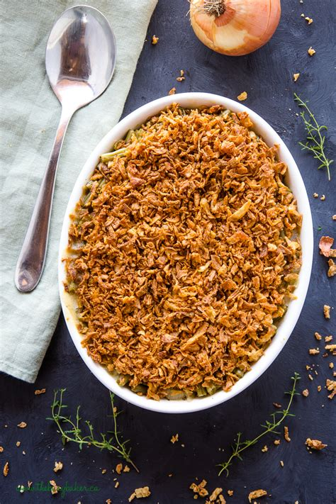 easy vegan green bean casserole  busy baker
