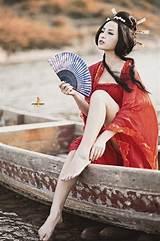 Asian woman magazine model