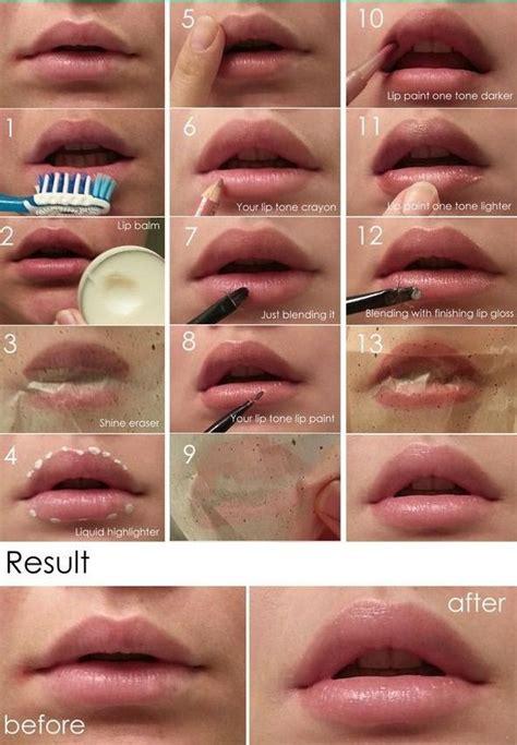 lips  fuller  steps  hijab lip makeup tutorial diy lip plumper