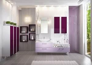 les salles de bains tendance pastel de schmidt With meuble schmidt salle bain