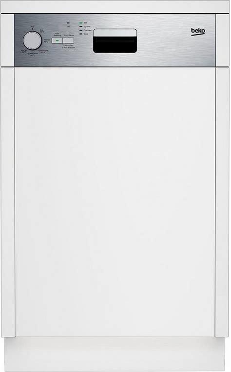geschirrspüler 40 cm breit beko teilintegrierbarer geschirrsp 252 ler dss05010x 13 l 10 ma 223 gedecke 45 cm breit