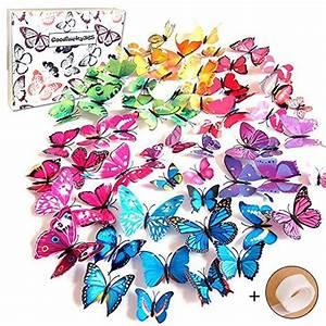 3d Schmetterlinge Wand : preisvergleich goodlucky365 72 pcs 3d schmetterlinge wanddeko willbilliger ~ Whattoseeinmadrid.com Haus und Dekorationen