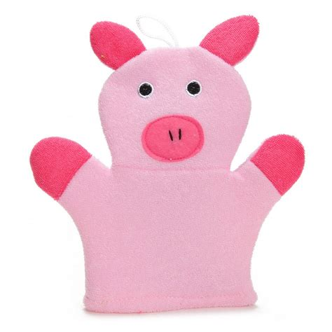 gant de toilette enfant gant de toilette cochon enfant b 233 b 233 enfants loulomax
