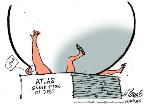Cartoon: 'Atlas, Greek Titan of Debt' | The Stream