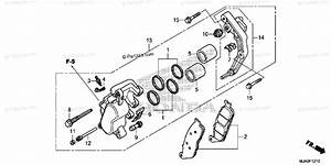 Honda Motorcycle 2015 Oem Parts Diagram For Front Brake Caliper  Vt750c  C2b