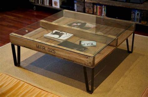 le de bureau originale tables basses en bois de palettes très originales 20