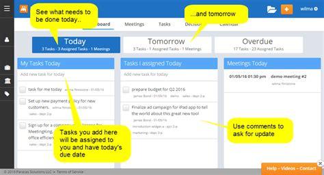 managing tasks  dashboard meeting agenda meeting