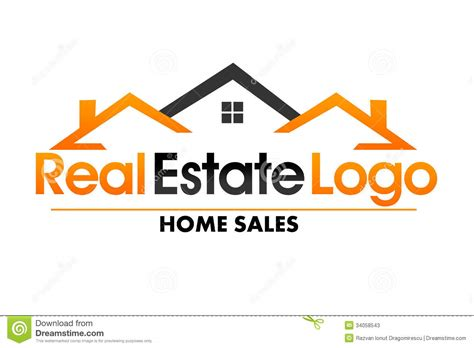 Real Estate Logo Stock Illustration. Illustration Of