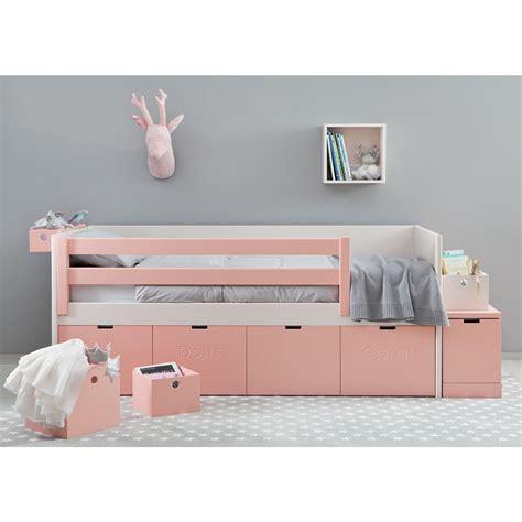 lit avec rangement lit corail avec tiroirs de rangement design et pratique asoral