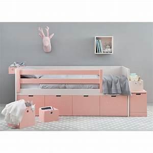 Lit Design Enfant : lit corail avec tiroirs de rangement design et pratique asoral ~ Teatrodelosmanantiales.com Idées de Décoration