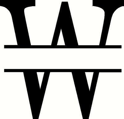 monogram  wall sticker vinyl decal  wall works