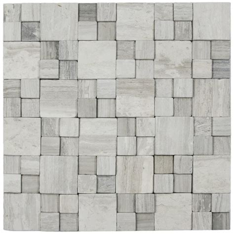 cnk tile pebble tiles  light grey blocks stone tile