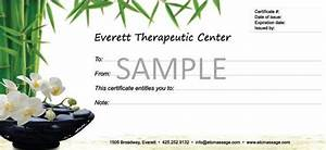 gift certificate template download free premium With massage therapy gift certificate template