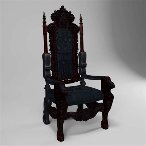 throne chair 3d max